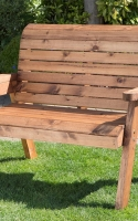 charles-taylor-classic-2-seater-garden-bench. All furniture is handcrafted in the United Kingdom, using quality timber from sustainable sources and is fully assembled. No tools required